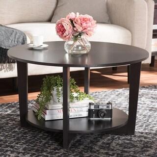Contemporary Dark Brown Coffee Table by Baxton Studio