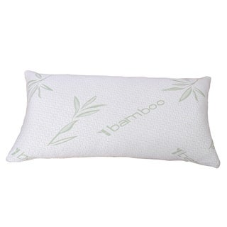 Serenta Shredded Memory Foam Pillow with Bamboo Shell - bamboo green / white