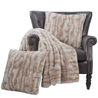 BOON Raccoon Faux Fur Throw Pillow Combo 3 Pieces Set