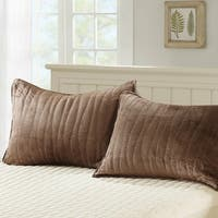 Serenta Microplush Quilted Sham Set - 2 Pieces Set