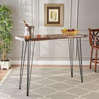 Chana Industrial Faux Live Edge Bar Table by Christopher Knight Home