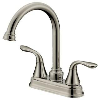 Long Neck Bar/Bathroom Faucet LB6B, Brushed Nickel Finish (4 In Spread)