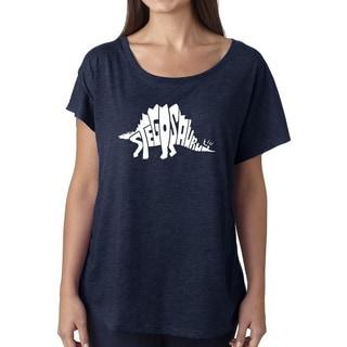 Link to Los Angeles Pop Art Dolman Word Art Shirt - STEGOSAURUS Similar Items in Tops