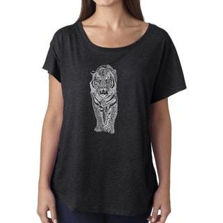 Link to Los Angeles Pop Art Dolman Word Art Shirt - TIGER Similar Items in Tops