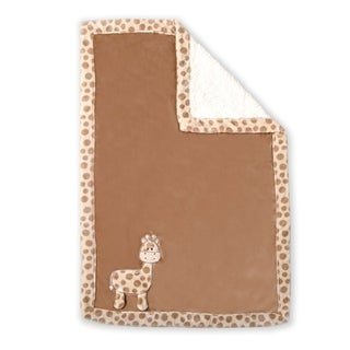 Ultra Soft Reversible Baby Blanket- Giraffe