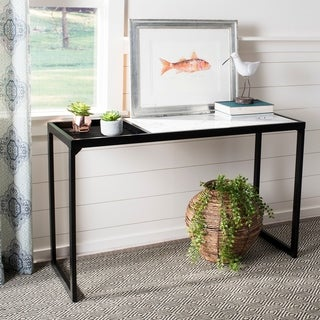 "Safavieh Zuri White/ Black Console Table - 48"" x 18"" x 30"""
