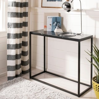 "Safavieh Baize Black Console Table - 13.8"" x 39.4"" x 31.5"""