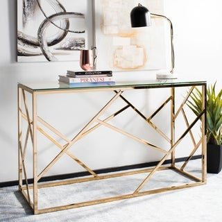 Safavieh Namiko Clear/ Brass Console Table