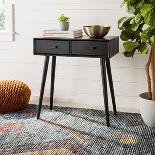 "Safavieh Dean Black 2-drawer Console Table - 28.3"" x 13.8"" x 30.8"""