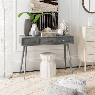 "Safavieh Albus Slate Grey 3-drawer Console Table - 41.8"" x 14.3"" x 32"""