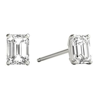 7734b4d28 Seraphina 18k Gold 0.60ct TDW Emerald Cut Diamond Solitaire Stud Earrings