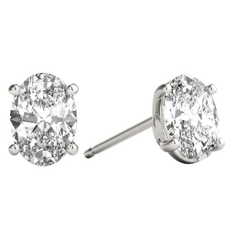 7c3eb12adb716 Buy Oval Diamond Earrings Online at Overstock | Our Best Earrings Deals