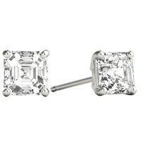 055ff412f Seraphina 18k Gold 1ct TDW Asscher Cut Diamond Solitaire Stud Earrings