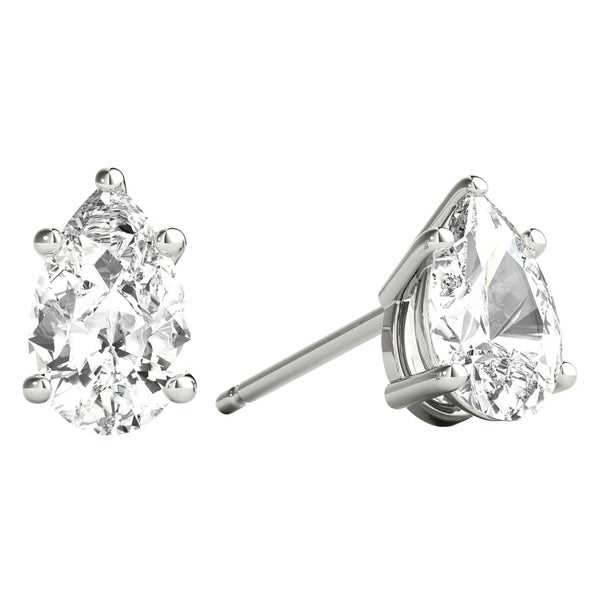 889b14e4a Seraphina 14k Gold 0.60ct TDW Pear Cut Diamond Solitaire Stud Earrings