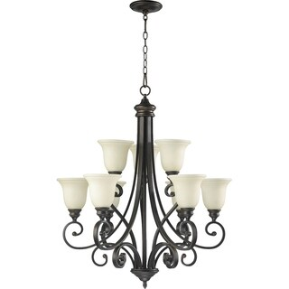 Bryant Oiled Bronze and Amber Scavo 9-light Chandelier