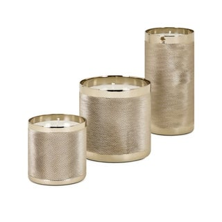 Cosette Gold Wax Filled Candleholders (Set of 3)