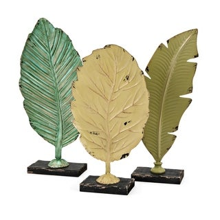 Cora Multi-color Leaf Statuaries (Set of 3)