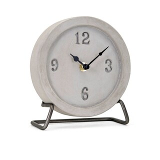Moore Grey Cement Desk Clock