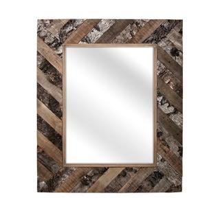 Tevin Brown Bark Wall Mirror - Walnut - A/N