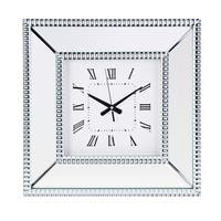 Fiona White Mirror Wall Clock