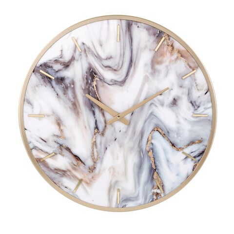 Shirke Pale Gold Wall Clock
