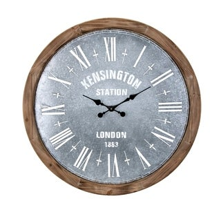 Grant Brown and Grey Oversized Wall Clock