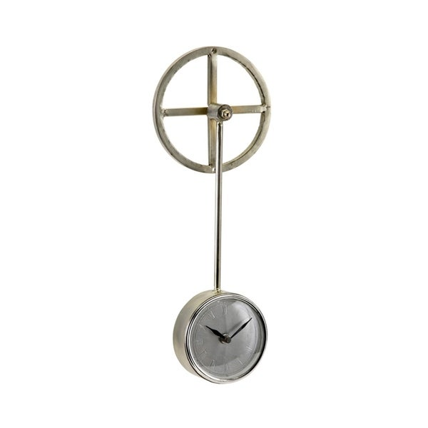 Lacole Metallic Champagne Pendulum Wall Clock