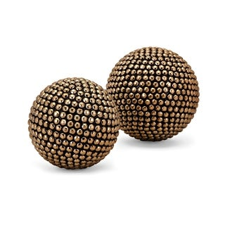Noma Gold and Black Orbs (Set of 2)