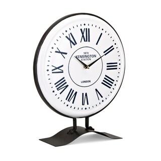Fenton Black and White Table Clock