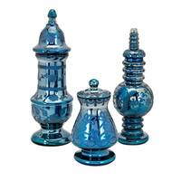 Miyu Blue Lidded Containers (Set of 3)