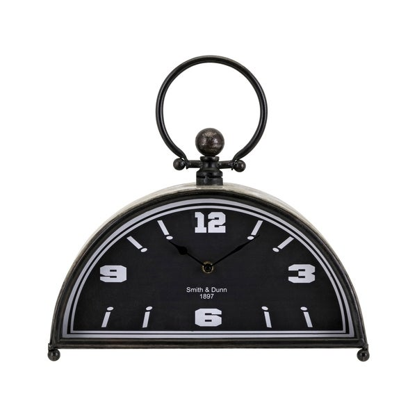 Chester Grey Metal Table Clock