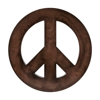 World Antiqued Bronze Patina Peace Sign