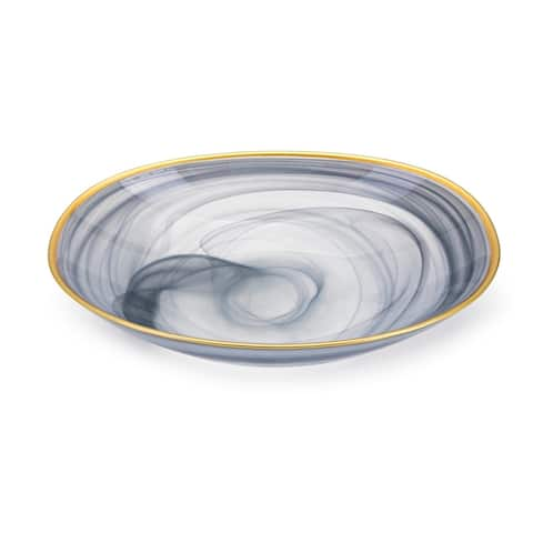 Yazel Blue-grey Glass Bowl