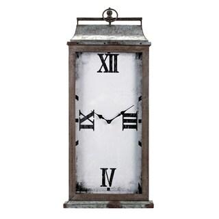 Nolan Rustic Metal Wall Clock
