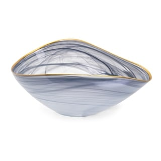 Romero Blue-grey Glass Bowl