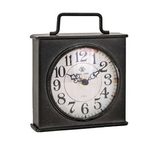 Henry Black Iron Table Clock
