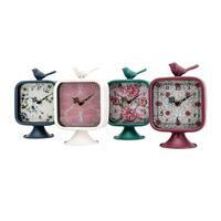 Bird Multi-color Desk Clocks (Set of  4)