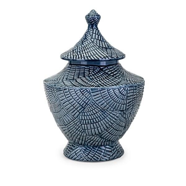 Nalo Blue Large Lidded Urn