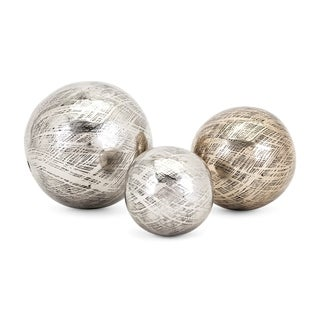 Ian Silver and Gold Aluminum Orbs (Set of 3)
