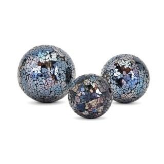 Harvest Multi-color Mosaic Decorative Balls (Set of 3)