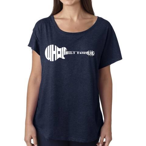 Los Angeles Pop Art Dolman Word Art Shirt - Whole Lotta Love