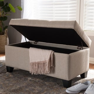 Contemporary Fabric Storage Ottoman by Baxton Studio
