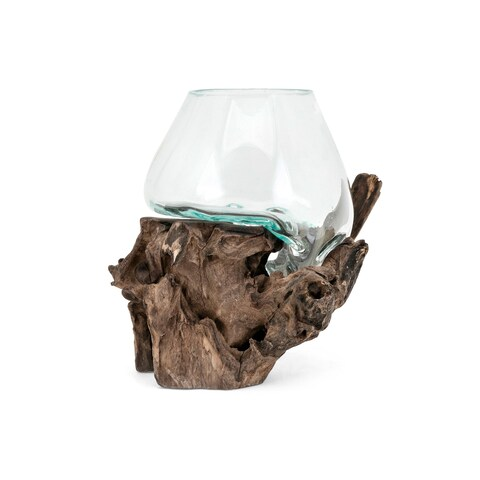 Brown and Clear Small Terrarium