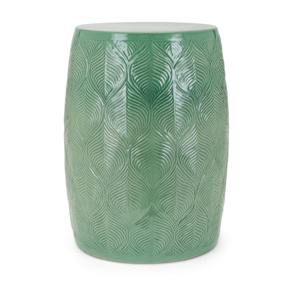 Porter Green Ceramic Garden Stool by Generic
