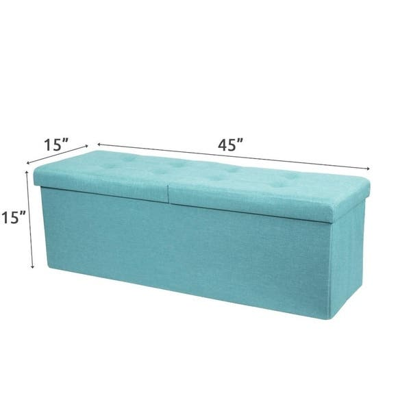Remarkable Shop Storage Ottoman Bench 45 Inch Smart Lift Top Mint Blue Gmtry Best Dining Table And Chair Ideas Images Gmtryco