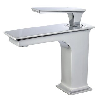 """Queen 6"""" Single Hole Single Handle Bathroom Faucet in Polished Chrome Finish"""
