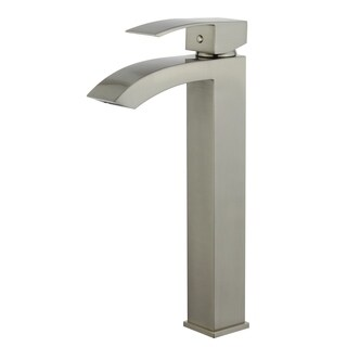 """Quest 12"""" Single Hole Single Handle Bathroom Faucet in Brushed Nickel Finish"""