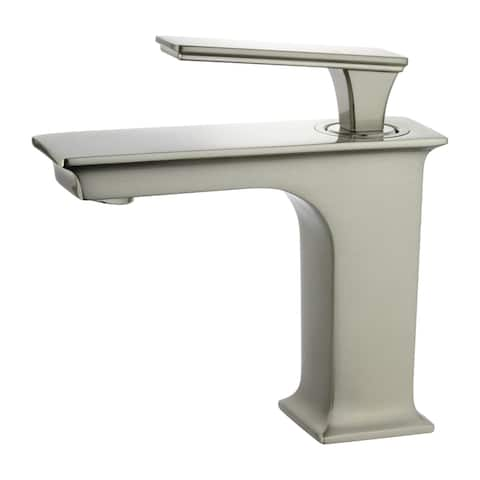 """Queen 6"""" Single Hole Single Handle Bathroom Faucet in Brushed Nickel Finish"""