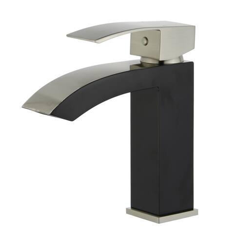 Tuglea 8028 7-inch Single Hole Two-Tone Bathroom Faucet