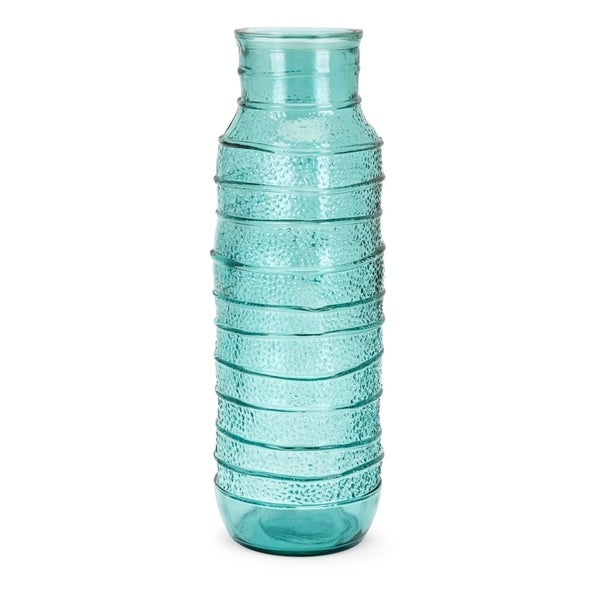 Martinique Teal Large Recycled Glass Vase